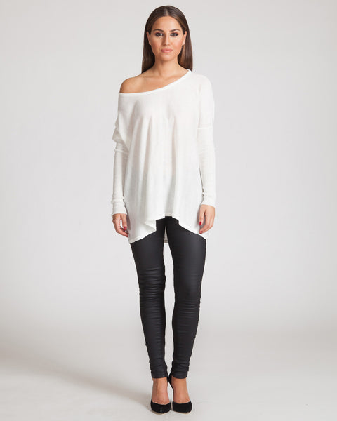 MADISON SQUARE BAGGY BEACH SWEATER-IVORY