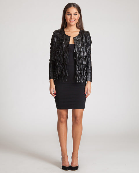 WYLDR SHOW OFF FRINGE JACKET-BLACK