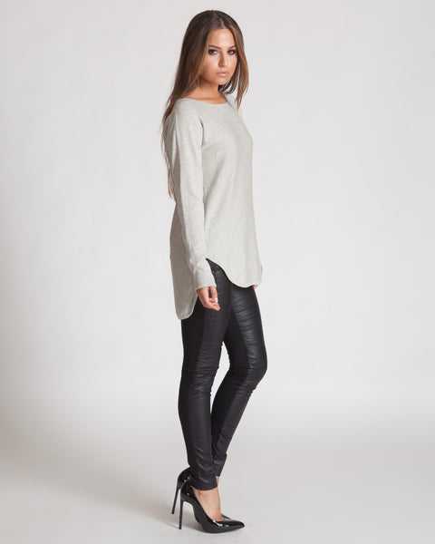 WILDE HEART BACK TO BASICS GREY SWEATER