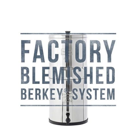 Blemished systems enable you to enjoy economic savings while being assured that the performance of your Berkey​ system has by no means been compromised. Cosmetically blemished Berkey​ systems come with the same warrantied Black Berkey​ Purification Elements that have made Berkey​ Water Filter the leader in the industry.