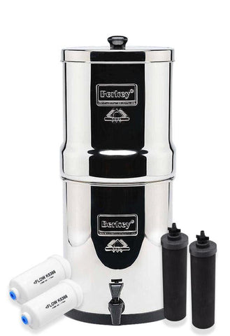 Big Berkey Water Filter Special Set with 2 Black Elements and 2 Fluoride Filters