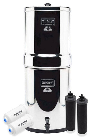 Crown Berkey 6 Gallons Water Filter Special Set with Fluoride Removal Filters
