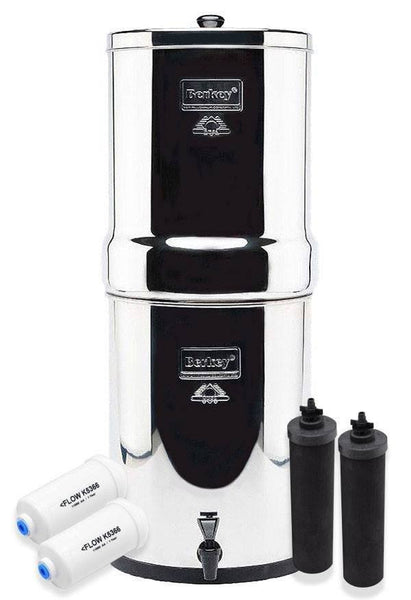 Imperial Berkey 4.5 Gallons Water Filter Special Set with Fluoride Removal Filters