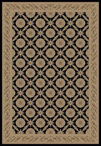 Concord Global Trading Imperial Aubosson Black Area Rug - KINGDOM RUGS - 1
