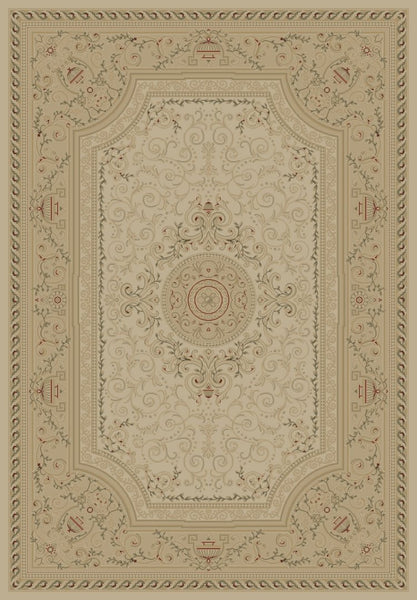 Concord Global Trading Imperial Savonnerie Ivory Area Rug - KINGDOM RUGS - 1