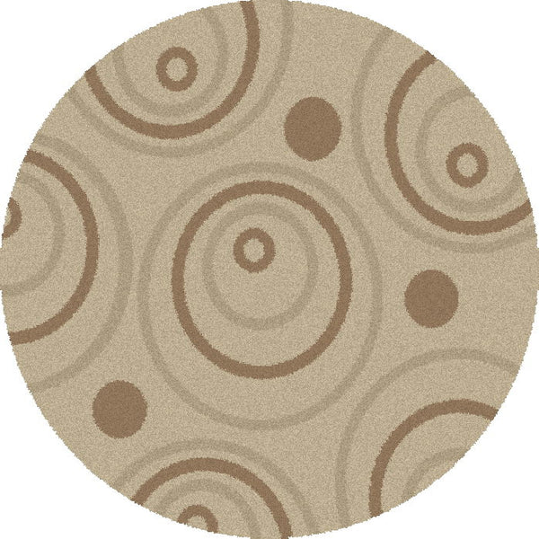 Concord Global Trading Shaggy Circle Natural Area Rug - KINGDOM RUGS - 2