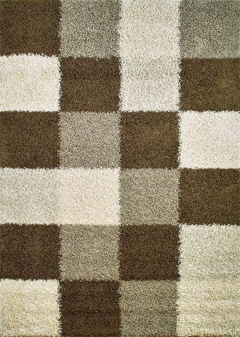 Concord Global Trading Shaggy Blocks Natural Area Rug - KINGDOM RUGS - 1