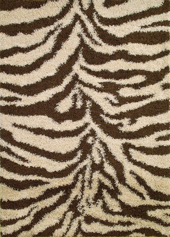 Concord Global Trading Shaggy Zebra Natural Area Rug - KINGDOM RUGS - 1