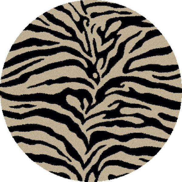 Concord Global Trading Shaggy Zebra Black Area Rug - KINGDOM RUGS - 2