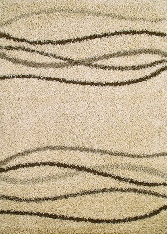 Concord Global Trading Shaggy Waves Natural Area Rug - KINGDOM RUGS - 1