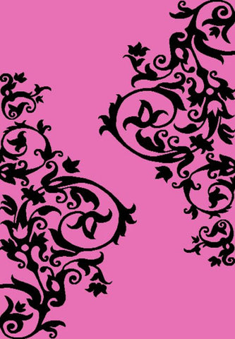 Concord Global Trading Alisa Tatoo Scroll Pink Area Rug - KINGDOM RUGS