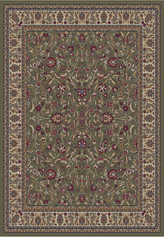 Concord Global Trading Jewel Kashan Green Area Rug - KINGDOM RUGS - 1