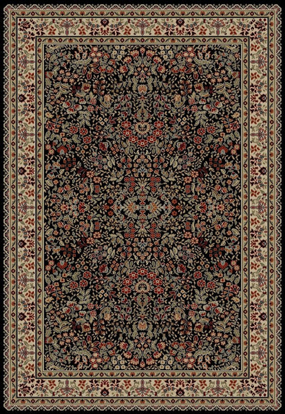 Concord Global Trading Jewel Sarouk Black Area Rug - KINGDOM RUGS - 1
