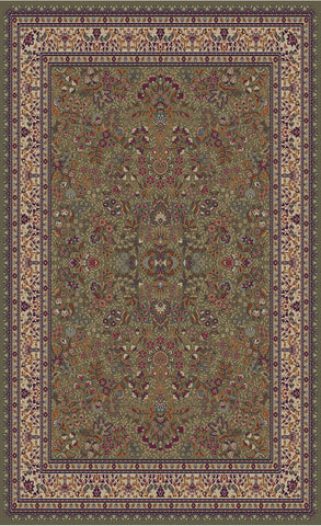 Concord Global Trading Jewel Sarouk Green Area Rug - KINGDOM RUGS - 1