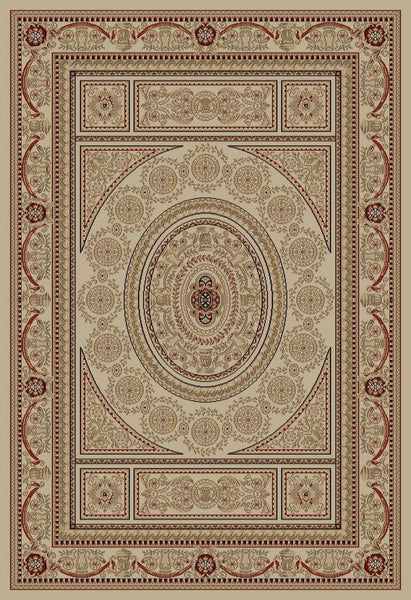 Concord Global Trading Jewel Aubusson Ivory Area Rug - KINGDOM RUGS - 1