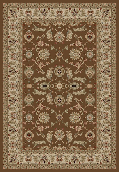 Concord Global Trading Jewel Antep Brown Area Rug - KINGDOM RUGS