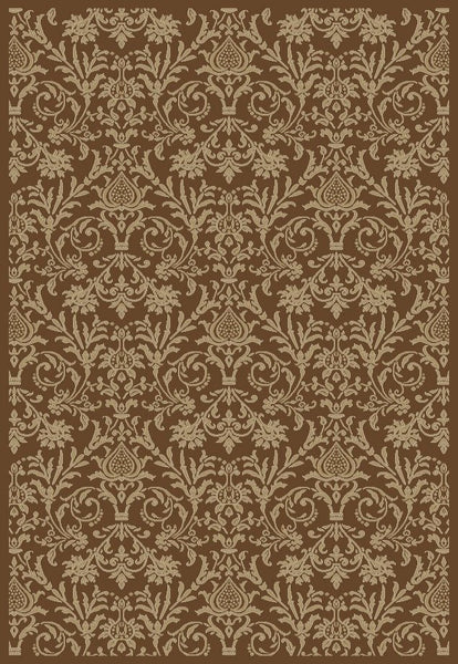 Concord Global Trading Jewel Damask Brown Area Rug - KINGDOM RUGS