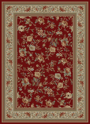 Concord Global Trading Ankara Floral Garden Red Area Rug - KINGDOM RUGS - 1