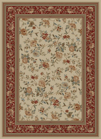 Concord Global Trading Ankara Floral Garden Ivory Area Rug - KINGDOM RUGS - 1