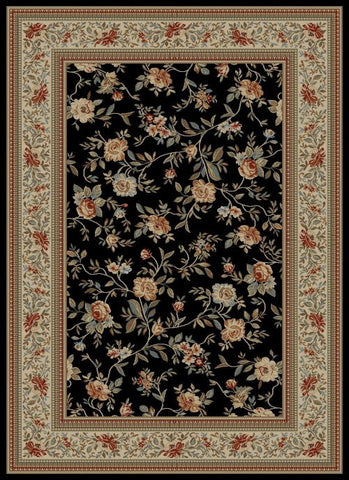 Concord Global Trading Ankara Floral Garden Black Area Rug - KINGDOM RUGS - 1