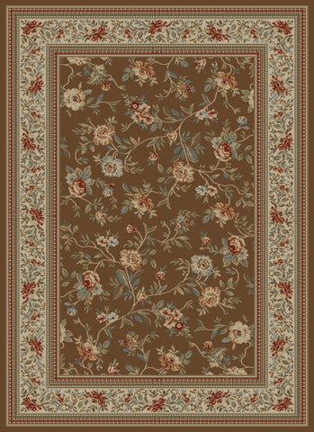 Concord Global Trading Ankara Floral Garden Brown Area Rug - KINGDOM RUGS - 1