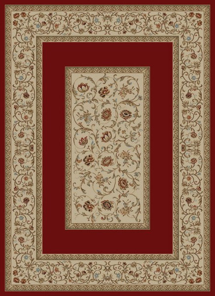 Concord Global Trading Ankara Floral Border Red Area Rug - KINGDOM RUGS - 1