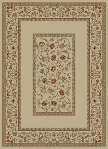 Concord Global Trading Ankara Floral Border Ivory Area Rug - KINGDOM RUGS - 1