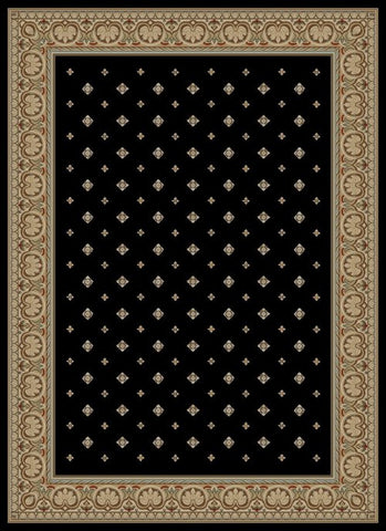 Concord Global Trading Ankara Pin Dot Black Area Rug - KINGDOM RUGS - 1