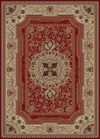 Concord Global Trading Ankara Chateau Red Area Rug - KINGDOM RUGS - 1