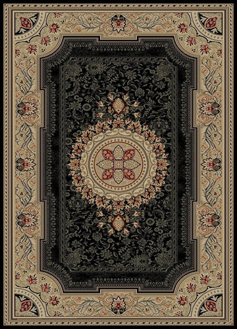 Concord Global Trading Ankara Chateau Black Area Rug - KINGDOM RUGS - 1
