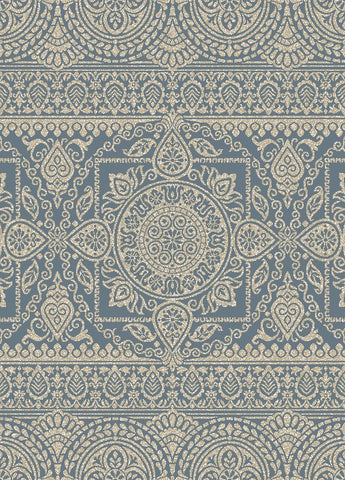 Concord Global Trading New Casa Aubosson Blue Area Rug - KINGDOM RUGS - 1