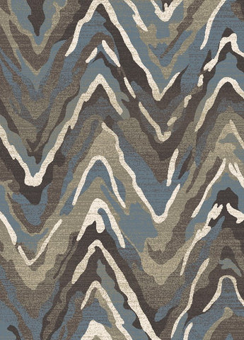 Concord Global Trading New Casa Waves Blue / Brown Area Rug - KINGDOM RUGS - 1