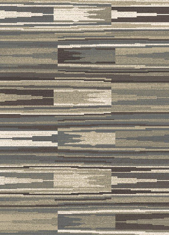 Concord Global Trading New Casa Patch Stripes Grey Area Rug - KINGDOM RUGS - 1