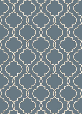Concord Global Trading New Casa Quatrefoil Blue Area Rug - KINGDOM RUGS - 1