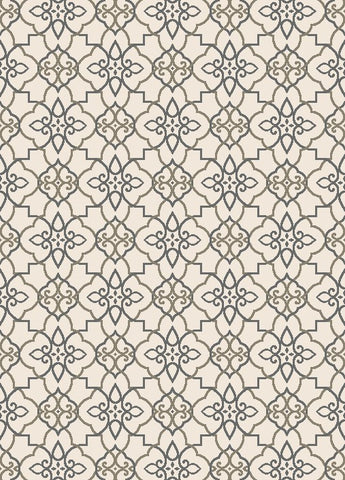 Concord Global Trading New Casa Trellis Grey Area Rug - KINGDOM RUGS - 1