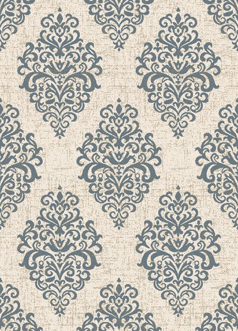 Concord Global Trading New Casa Damask Ivory / Blue Area Rug - KINGDOM RUGS - 1