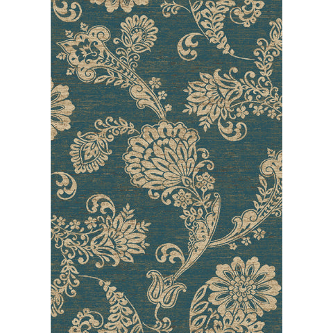 Concord Global Trading Verona Paisley Flower Blue Area Rug - KINGDOM RUGS - 1