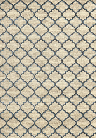 Concord Global Trading Lumina Crossroads Ivory/ Blue  Area Rug - KINGDOM RUGS