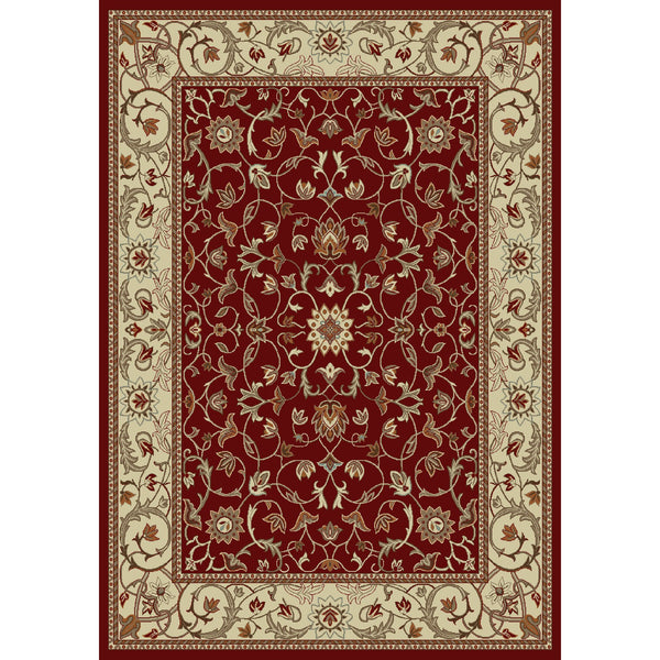 Concord Global Trading Chester Flora Red Area Rug - KINGDOM RUGS - 1