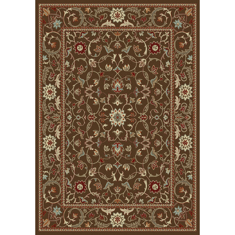 Concord Global Trading Chester Flora Brown Area Rug - KINGDOM RUGS - 1