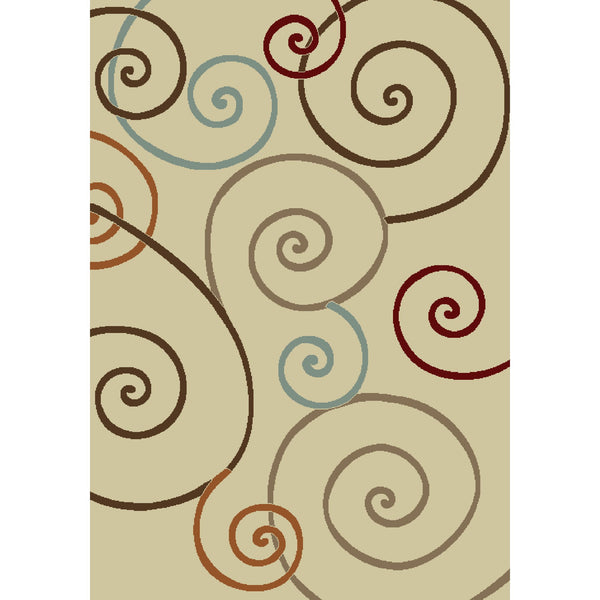 Concord Global Trading Chester Scroll Ivory Area Rug - KINGDOM RUGS - 1