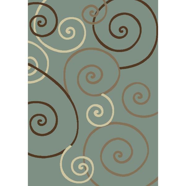 Concord Global Trading Chester Scroll Blue Area Rug - KINGDOM RUGS - 1