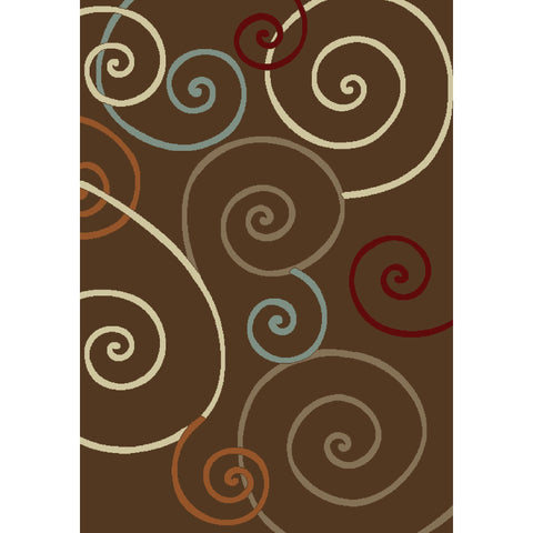 Concord Global Trading Chester Scroll Brown Area Rug - KINGDOM RUGS - 1