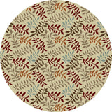 Concord Global Trading Chester Leafs Ivory Area Rug