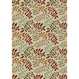 Concord Global Trading Chester Leafs Ivory Area Rug - KINGDOM RUGS - 1