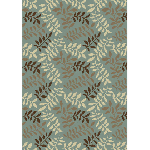 Concord Global Trading Chester Leafs Blue Area Rug - KINGDOM RUGS - 1