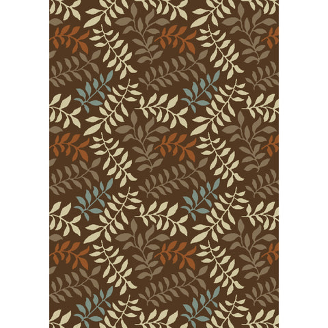 Concord Global Trading Chester Leafs Brown Area Rug - KINGDOM RUGS - 1