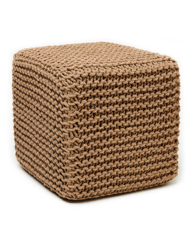 Anji Mountain Natural Jute Pouf- Square - KINGDOM RUGS - 1
