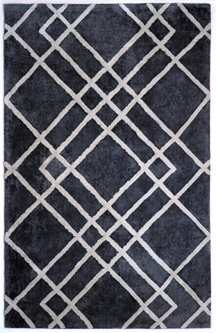Anji Mountain Astralis Diamond Dogs Grey/Ivory Area Rug - KINGDOM RUGS - 1
