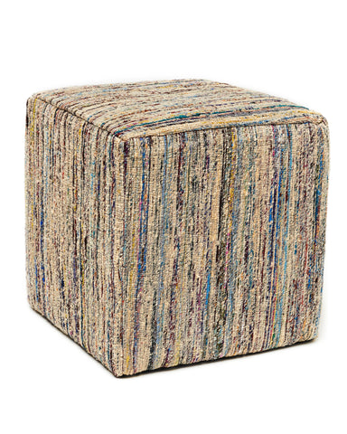 Anji Mountain Topaz Saree Pouf - Square - KINGDOM RUGS - 1